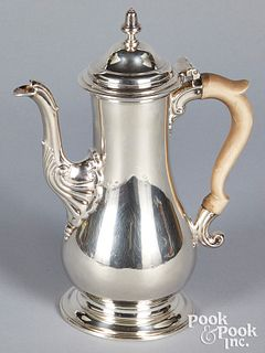 Georgian silver coffee pot 1761-1762