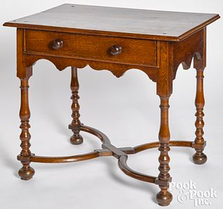 George I oak dressing table, ca. 1740
