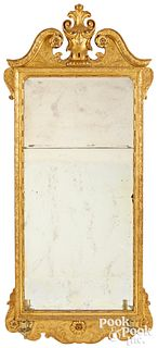 George II giltwood looking glass, ca. 1760
