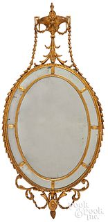 George III giltwood mirror, late 18th c.