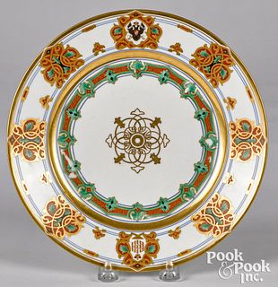 Imperial Russian porcelain plate, ca. 1850
