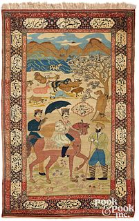 Isphahan pictorial carpet