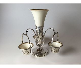 Sterling Silver and Lenox Epergne