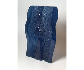 Daum Blue Sculpture