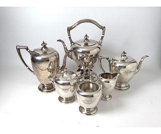 6pc Sterling Silver Tea Service