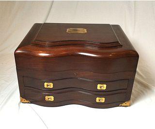 Extra Large Mahogany Flatware Box
