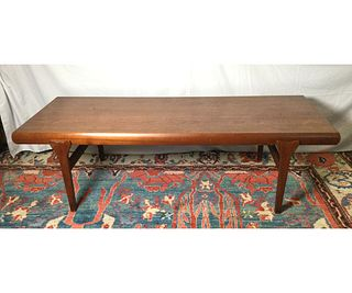 Johannes Andersen Modern Danish Teak Coffee Table with Drawers