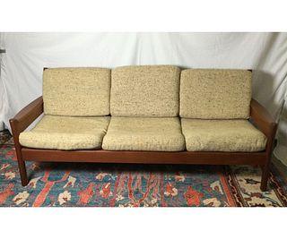 Mid Century Teak Sofa by Dyrlund