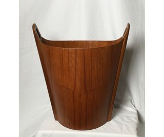 Mid Century Waste Basket by P.S. Heggen