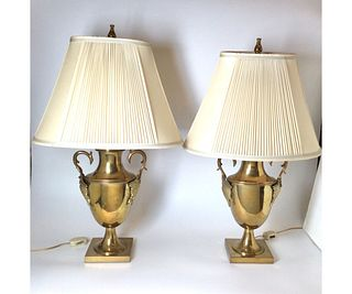 Pair Chapman Brass Lamps