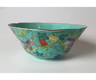 Chinese Famille Rose Late Qing Bowl