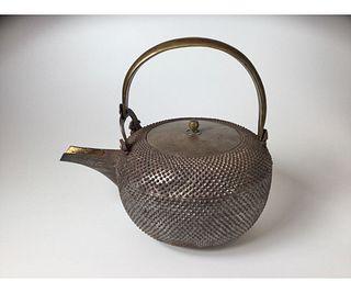 Japanese Gilt Cast Iron Tea Pot