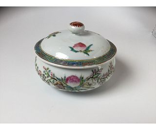 Chinese Famille Rose Lidded Container