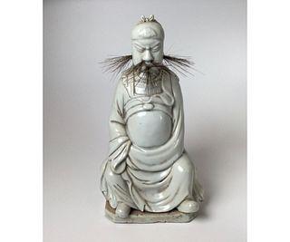 Chinese Blanc De Chine Dehua Porcelain Statue