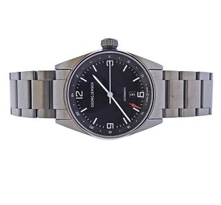 Georg Jensen Delta Classic GMT Gunmetal PVD Automatic Watch 3575606
