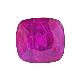 AGL No Heat 3.48ct Ruby Cushion Gemstone