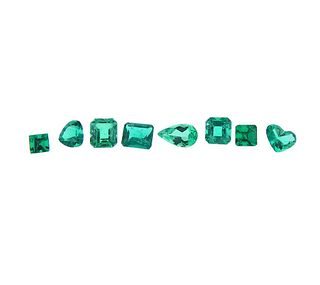 2.86ctw Loose Emerald Gemstone Lot of 8pc