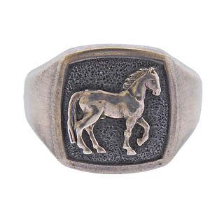 David Yurman Sterling Silver Horse Ring