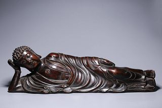 The Qing Dynasty, Shakyamuni Buddha Bronze Statue with Silver Inlay