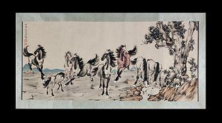 Xu Beihong, Horses Painting