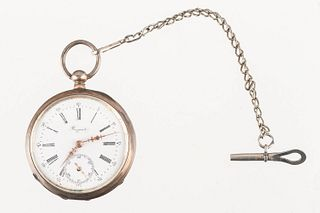 Breguet Silver Pocketwatch and Key