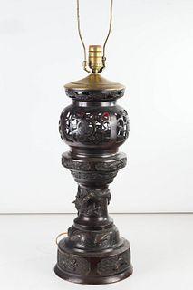 Bronze Censer Table Lamp