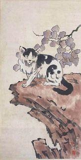 """Xu Beihong, """"Cat"""""""