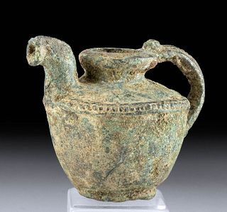 Hellenistic Greek Bronze Pitcher - Nicely Decorated