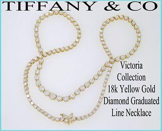 10.39tcw Tiffany & Co Victoria Diamond Necklace