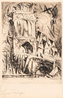 Lyonel Feininger (German/American, 1871-1956)