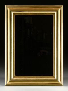 A VINTAGE GILT WOOD MIRROR, CANADIAN, LATE 20TH CENTURY,