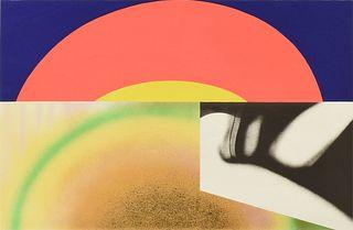 "JAMES ROSENQUIST (American 1933-2017) A PRINT, ""Brighter Than the Sun,"" 1972,"