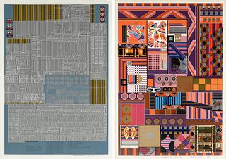 "SIR EDUARDO PAOLOZZI (Italian 1924-2005) A GROUP OF THREE PRINTS FROM, ""Universal Electronic Vacuum Series,"""