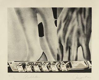 "JAMES ROSENQUIST (American 1933-2017) A PRINT, ""Pushbutton,"" 1972,"