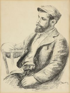 "PIERRE-AUGUSTE RENOIR (French 1841-1919) A PRINT, ""Louis Valtat,"" PARIS, 1904-1919,"