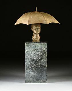 "CLIVE BARKER (British b. 1940) A SCULPTURE, ""Portrait of Francis Bacon,"" CIRCA 1978,"