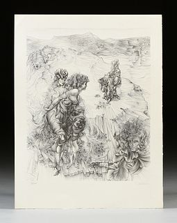 "HANS BELLMER (German 1902-1975) A PRINT, ""Paysage 1900,"" CIRCA 1970,"