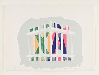"JAMES ROSENQUIST (American 1933-2017) A PRINT, ""Toy Prism,"" 1972,"