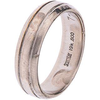 19K WHITE GOLD RING, SCOTT KAY Engraved. weight: 9.5 g. Size: 8 ¼