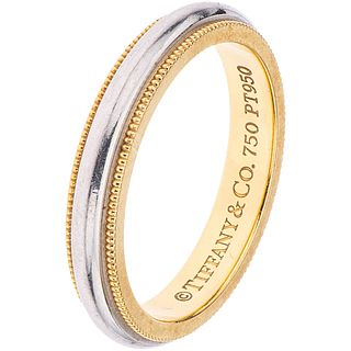 RING IN 18K YELLOW GOLD AND PLATINUM, TIFFANY & CO.  Engraved. Weight: 5.4 g. Size: 6