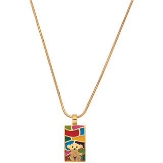 CHOKER IN 18K YELLOW GOLD AND PENDANT IN 18K YELLOW GOLD, TOUS