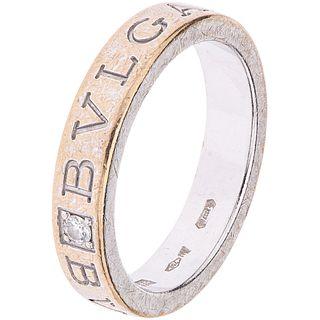 DIAMOND RING IN 18K WHITE GOLD, BVLGARI  Shows wear. Weight: 7.2 g. Size: 7