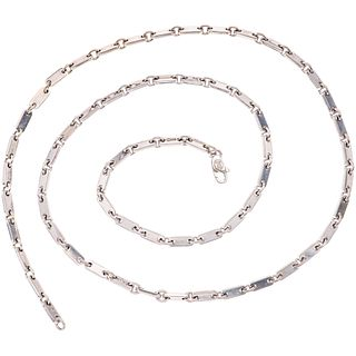 "NECKLACE IN 18K WHITE GOLD, CARTIER  Carabiner clasp. Weight: 36.4 g. Length: 23.3"" (59.2 cm)"