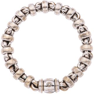DIAMOND BRACELET IN 18K WHITE GOLD, CHIMENTO  Shows wear. Tester mark. Box clasp. Weight: 38.8...