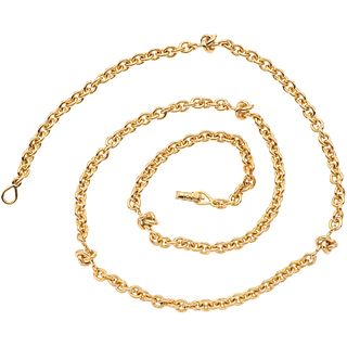 """NECKLACE IN 18K YELLOW GOLD, TANE  Pliable clasp. Weight: 91.0 g. Length: 28"""" (71.2 cm)"""