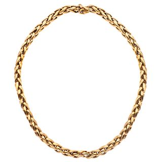 "CHOKER IN 18K YELLOW GOLD  Box clasp. Weight: 53.4 g. Length: 16.5"" (42.0 cm)"