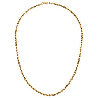 """NECKLACE IN 14K YELLOW GOLD Box clasp. Weight: 44.5 g. Length: 24.3"""" (61.8 cm)"""
