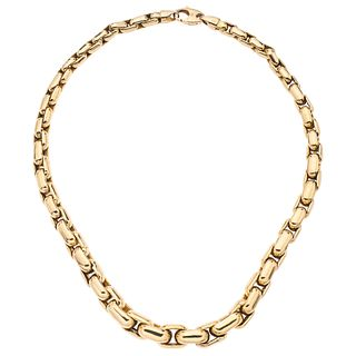"""14K YELLOW GOLD NECKLACE Carabiner clasp. Weight: 54.3 g. Length: 17.1"""" (43.5 cm)"""