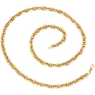 """NECKLACE IN 14K YELLOW AND WHITE GOLD Carabiner clasp. Weight: 41.1 g. Length: 23.7"""" (60.3 cm)"""