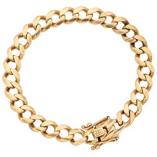 """BRACELET IN 12K YELLOW GOLD Box clasp with double 8-shaped safety. Weight: 36.3 g. Length: 8"""" (20.5 cm)"""